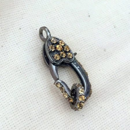 Sterling Silver Citrine Lobster Clasp