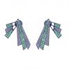 0.52cts Pave Diamond Tsavorite Ear Jacket .925 Silver Jewelry