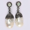 Natural Pearl Designer Sterling Silver Earrings Jewelry, Pearl Earrings Jewelry