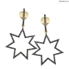 14k Gold 925 Sterling Silver Pave Natural Diamond STAR Dangle Earrings Jewelry