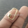 14k Yellow Gold 20x10mm Designer Carabiner Lock Bracelet Pendant Necklace Lock Fine Jewelry