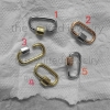 20 mm Yellow Gold, Rose Gold, Silver Plating Sterling Silver Designer Carabiner Lock Bracelet Pendant Necklace Lock Fine Clasp Jewelry