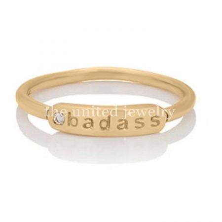 pave diamond 14k Gold ring