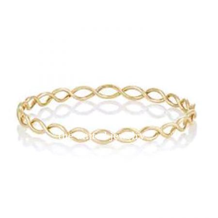 18k Gold Handmade Bangle Jewelry