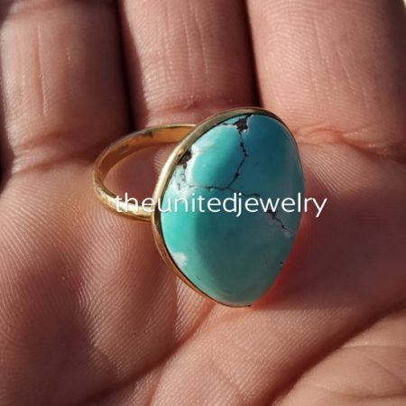 925 Sterling Silver Handmade Gemstone Ring Women Jewelry