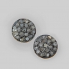 Natural 0.27 Ct. Pave DIAMOND Round STUD EARRINGS/ 925 Sterling Silver Handmade Jewelry/ Mini Studs