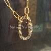 14k Solid Yellow Gold Blue Sapphire Handmade Carabiner Lock Wholesale Prong Setting Bracelet Necklace Pendant Lock Jewelry