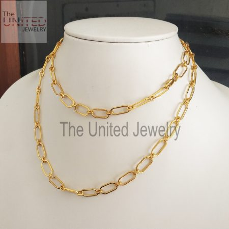 18 inch' Women's Designer Handmade 925 Sterling Silver Link Chain Necklace Fine Jewelry Wholesale