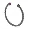 925 Silver Black Diamond Ruby Cuff Bracelet Handmade Jewelry