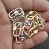 10pcs Lot 20mm Designer Carabiner Handmade 925 Sterling Silver Ruby, Sapphire, Pave Diamond, Enamel Mini Baby Carabiner Lock Jewelry Manufacturer