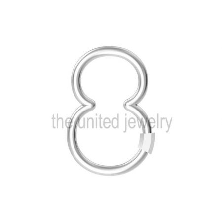 Eight Shape Carabiner Lock Handmade 925 Sterling Silver Lock Jewelry
