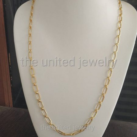 30 inch' Flat Drawn Cable Long Link Chain Handmade 925 Sterling Silver Necklace Fine Jewelry Wholesale