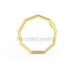 Yellow Gold Plating Sterling Silver Designer Octogon Shape Carabiner Lock Bracelet Pendant Necklace Lock Fine Jewelry