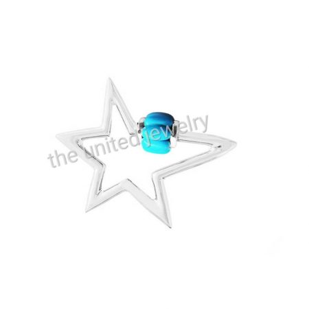 Star Shape Best Selling Solid Sterling Silver Turquoise Carabiner Lock, Handmade Carabiner Lock Jewelry Manufacturer