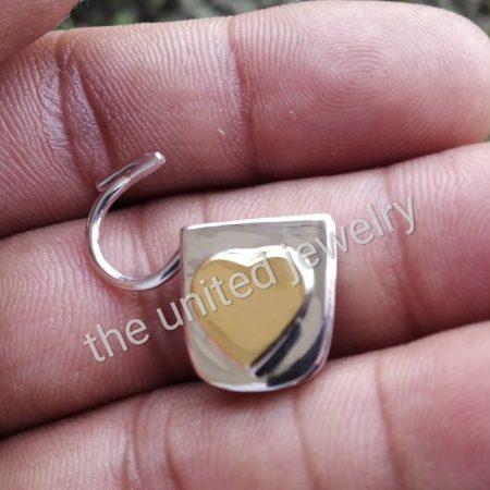 Heart Shape Designer Handmade 925 Sterling Silver Padlock Jewelry