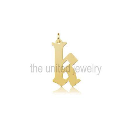 K Initial Alphabet Handmade Monogram Letter Pendant Charms 925 Sterling Silver jewelry