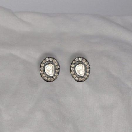 14k Gold Uncut Diamond Stud Jewelry Uncut Diamond Stud Earrings Women's