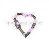 Natural Pave Diamond Pink Color Enamel Gold Plating Sterling Silver Carabiner Lock Finding Jewelry, Carabiner Lock