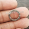925 Sterling Silver Pave Diamond Round Lock Clasp Finding Jewelry, Link Chain Connector