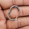 925 Sterling Silver Pave Diamond Sterling Silver Clasp Lock Spacer Finding Jewelry