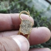 14k Solid Yellow Gold Natural Pave Diamond Handmade Padlock Jewelry Manufacturer Padlock Jewelry Supplier