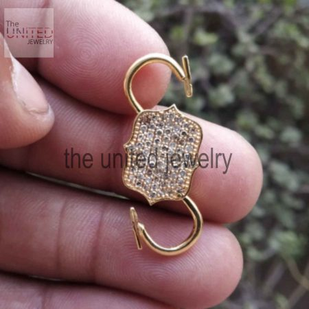 14k Solid Yellow Gold Natural Pave Diamond Handmade Padlock Jewelry Manufacturer Padlock Jewelry Supplier