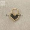 14k Solid Yellow Gold Heart Shape Natural Pave Diamond Handmade Padlock Jewelry Manufacturer India