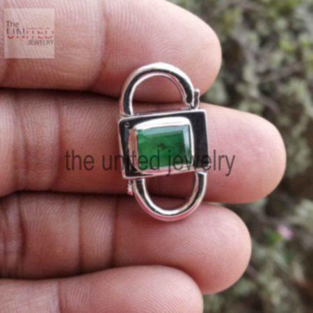 Emerald Gemstone 925 Sterling Silver Padlock Necklace Bracelet Lock Jewelry Manufacturer