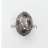 Natural Pave Diamond Handmade Ruby Beads Sterling Silver finding Jewelry
