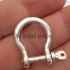 Handmade 925 Sterling Silver Plain Silver Shackle Clasp Lock Jewelry Manufacturer