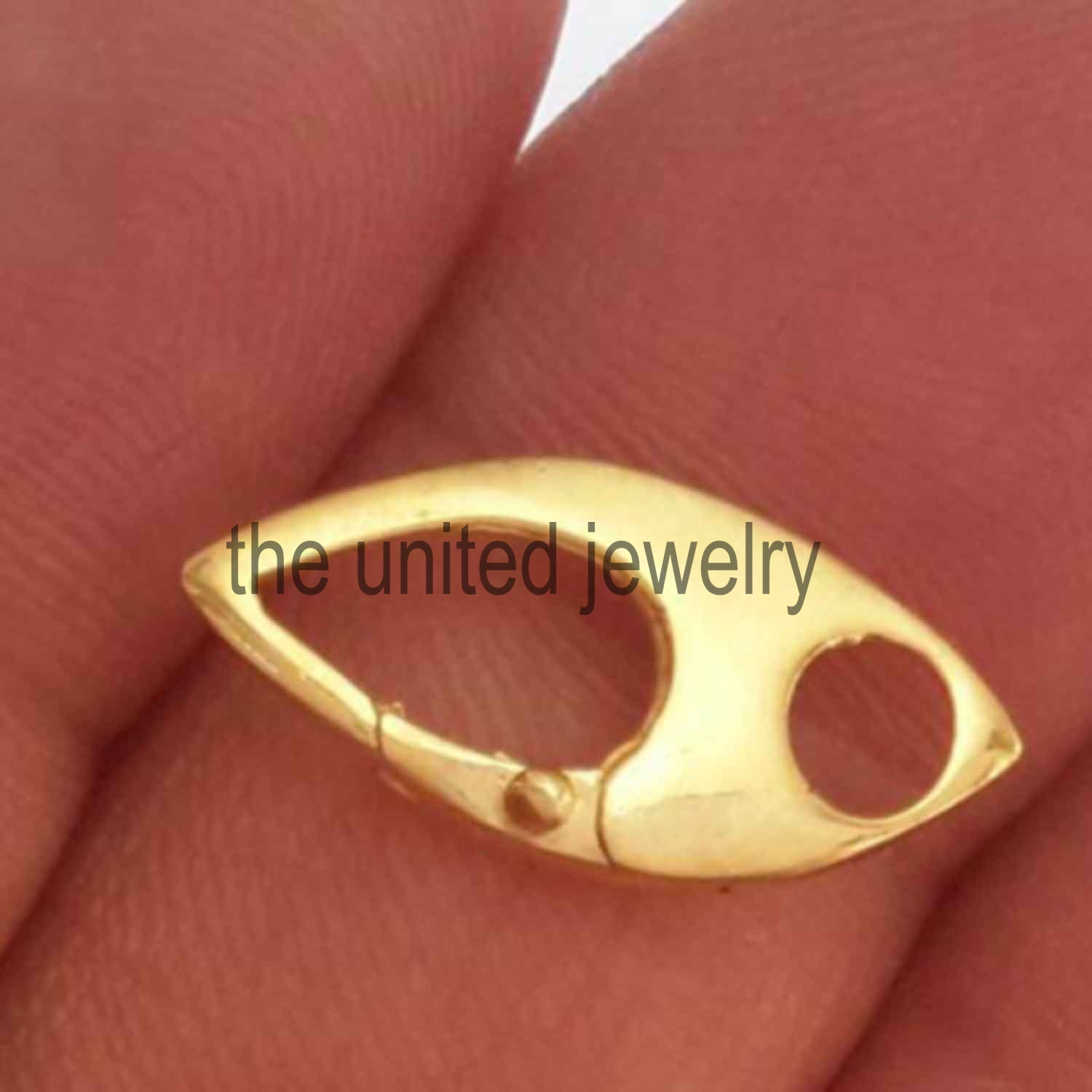 Yellow Gold Plating Sterling Silver 925 Clasp Lock Jewelry Wholesale