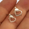 Yellow Gold Plating 925 Sterling Silver Heart Lobster Clasps Jewelry