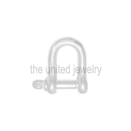 925 Sterling Silver Plain Silver Shackle Clasp Lock Handmade Jewelry Manufacturer