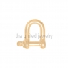 Rose Gold Plating 925 Sterling Silver Plain Silver Shackle Clasp Lock Handmade Jewelry Manufacturer