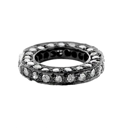 925 Sterling Silver Pave Diamond Round Clasp Lock Finding, Diamond Round Clasp Lock Finding