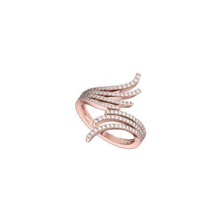 Diamond 0.896 Cts Fashion Design Prong Setting Ring 14K Rose Gold Jewelry Gems Trade Mart