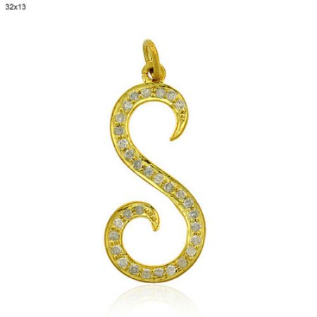 Natural Diamond 14k Yellow Gold Pendant Jewelry