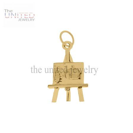 14K Gold Art Easel Charm Handmade Jewelry