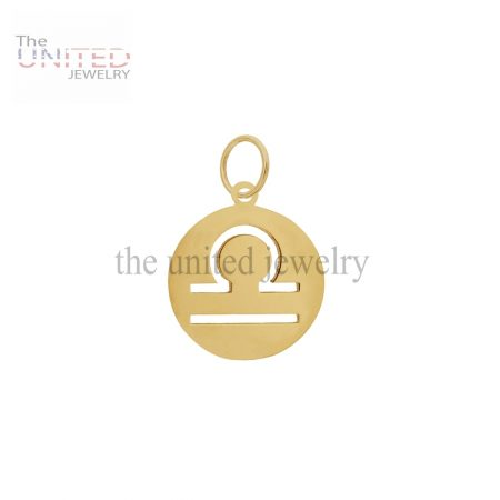 14K Gold Astrological Sign Libra Charm Jewelry