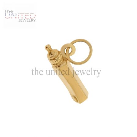 14K Gold Baby Bottle Charm Jewelry Wholesale