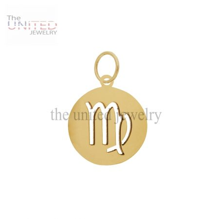 14K Gold Handmade Astrological Sign Virgo Charm Jewelry