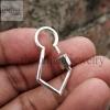 Handmade Designer Shape Carabiner Lock Clasp Sterling Silver Fine Jewelry