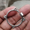 Designer Shape Carabiner Lock Clasp Sterling Silver Fine Jewelry