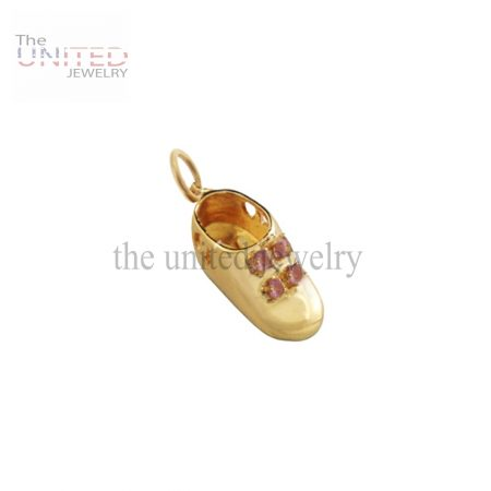 14K Gold Baby Girl Bootie Charm Jewelry
