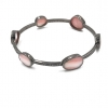 Pave Diamond Pink Opal Diamond Bangle 925 Sterling Silver Jewelry Supplier