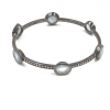 Pave Diamond Aquamarine Diamond Bangle 925 Sterling Silver Jewelry Supplier