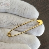 Wholesale Handmade Plain Silver Yellow Gold Plating Safety Pin Jewelry
