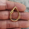 14k gold carabiner lock jewelry manufacturer