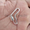 Handmade Boomerang Carabiner lock Clasp 925 Sterling Silver Fine Jewelry