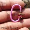 Pink Color Enamel Ruby Baguette Gemstone Handmade Carabiner Lock Sterling Silver Jewelry Wholesale
